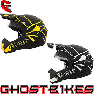 View Item EVS 2013 T5 Vortek Neon Blocks Motocross Helmet