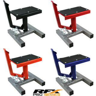 View Item RFX Pro Series Single Pillar Lift Up MX Bike Stand