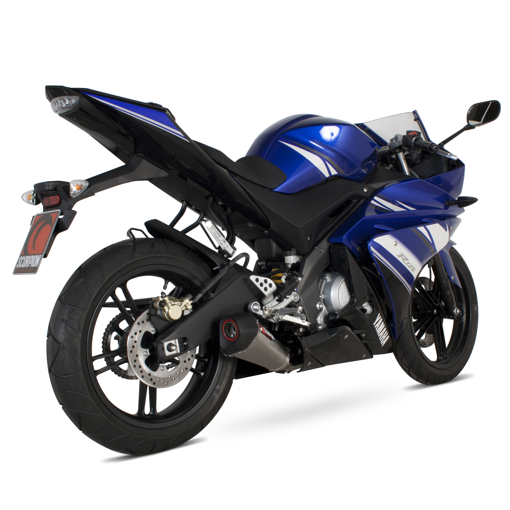 yamaha yzf r 125 system 12 current scorpion serket taper titanium oval exhaust ebay. Black Bedroom Furniture Sets. Home Design Ideas