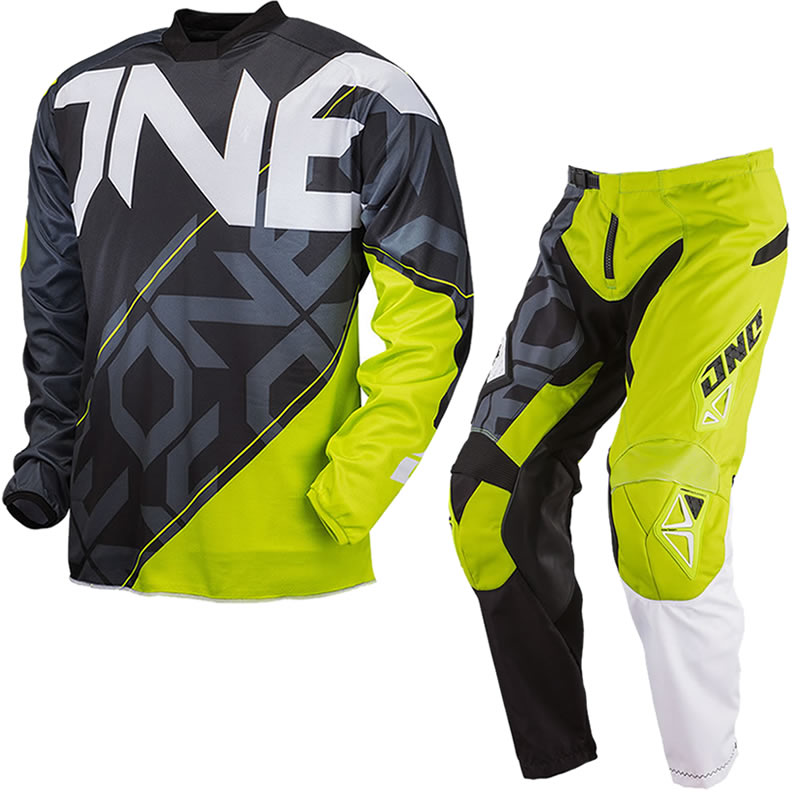 51178d438 ONE INDUSTRIES 2013 CARBON CYPHER GREEN MX MOTOCROSS JERSEY   PANTS ...