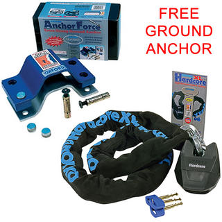 View Item Oxford Hardcore XL Chain & Lock 1.5m & Anchor Force Ground Anchor