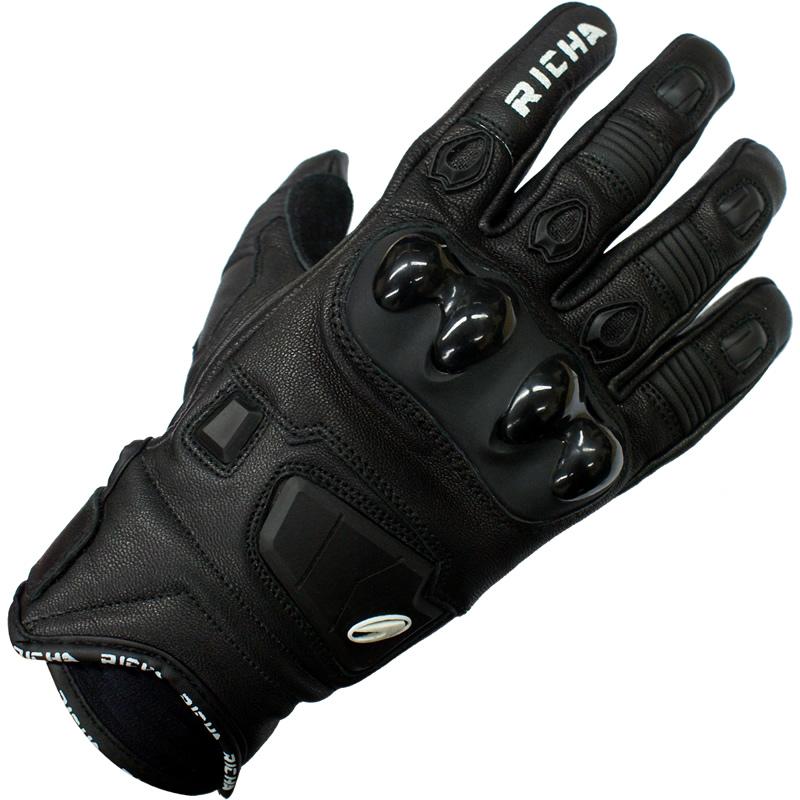 Richa Rock White Short Hard Knuckle Sports Leather