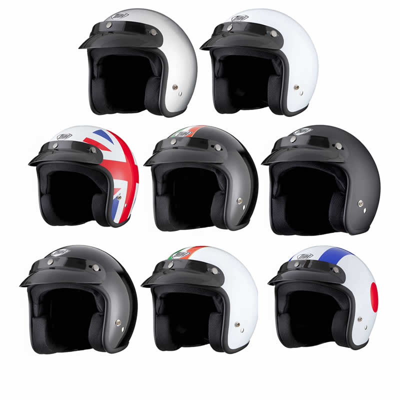 casque moto motard style retro scooter face ouverte thh t 380 ebay. Black Bedroom Furniture Sets. Home Design Ideas