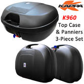 View Item Kappa K960 Monokey Top Case and Panniers 3 Piece Set 44L