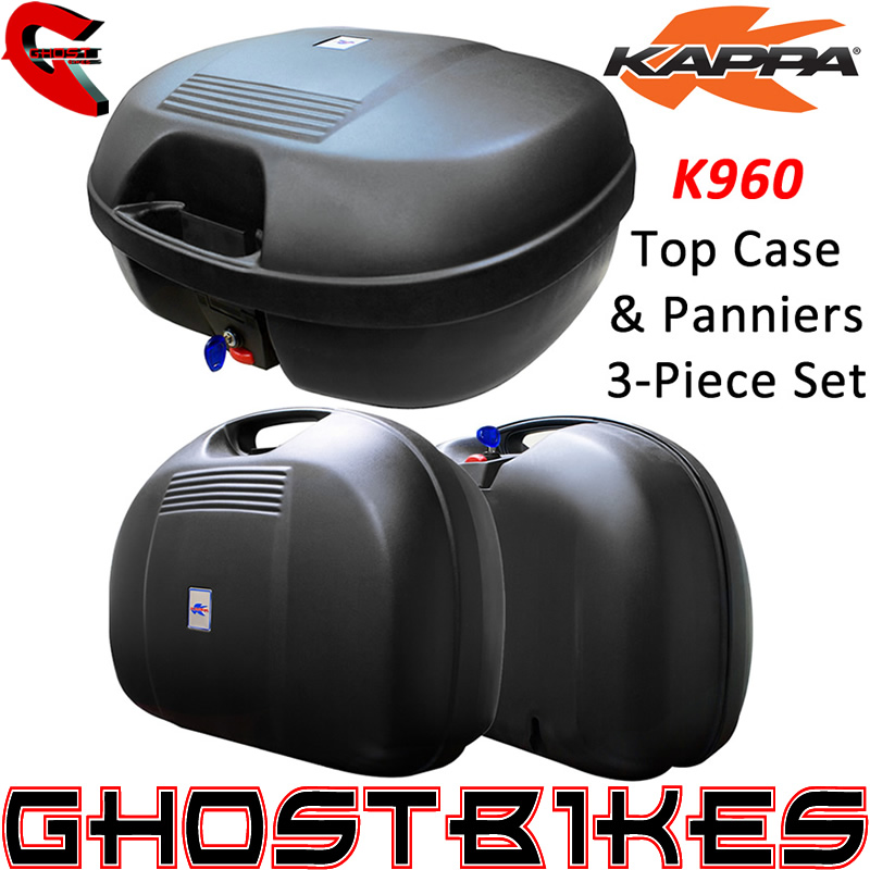 kappa monokey k960 3 piece set 44l motorcycle top box case and side panniers kit ebay. Black Bedroom Furniture Sets. Home Design Ideas