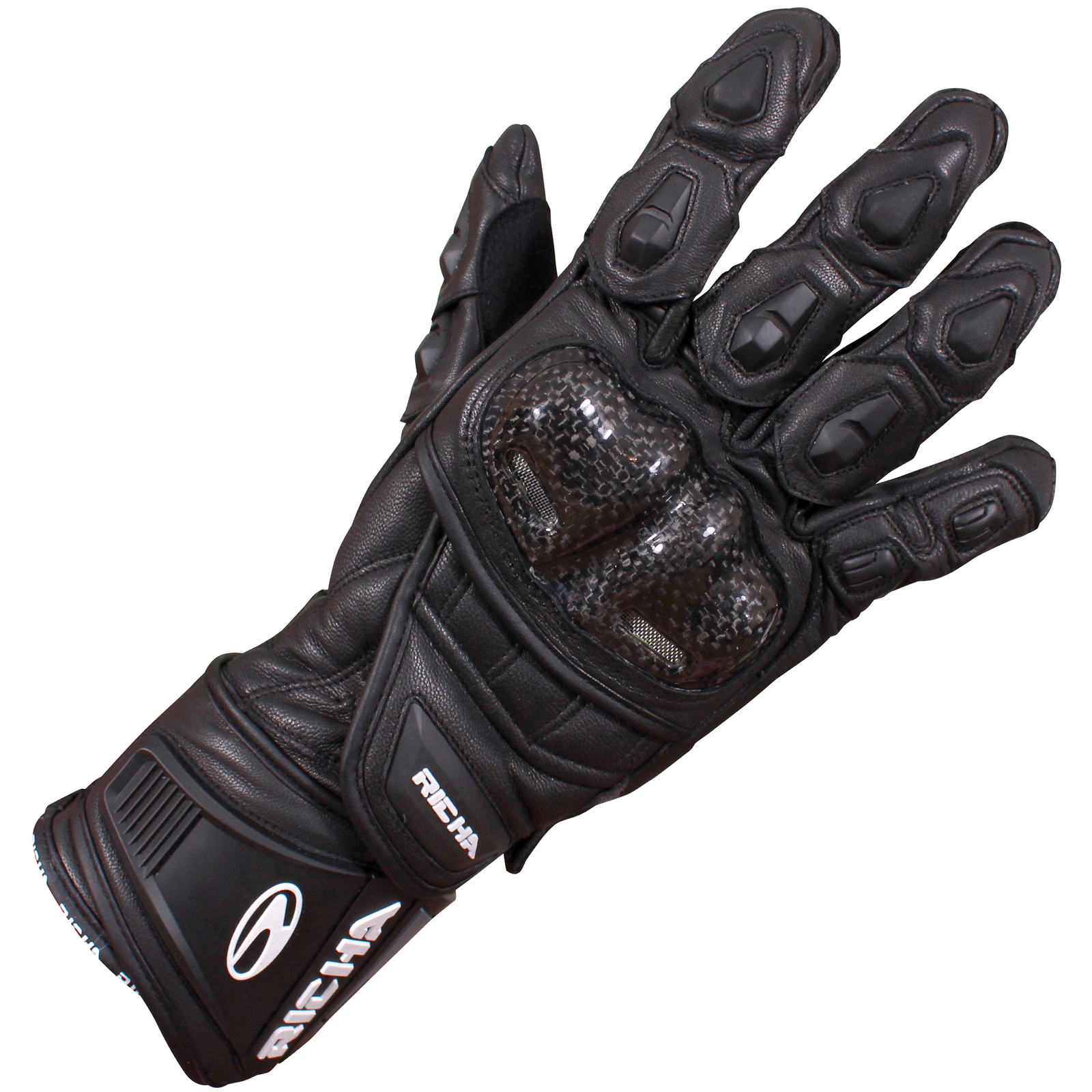 Motorcycle gloves richa - Richa Fire Leather Sports Racing Motorcycle Armoured Carbon