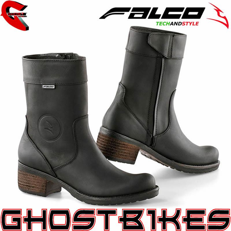 FALCO AYDA SHORT LADIES WATERPROOF MOTORCYCLE MOTORBIKE HEELED CE ...