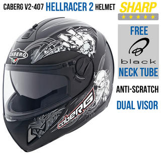 View Item Caberg V2 407 Hellracer 2 Motorcycle Helmet