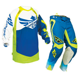View Item Fly Racing 2014 Evolution Clean Blue-High-Viz Motorcross Kit