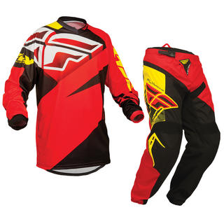 View Item Fly Racing 2014 Youth F-16 Red-Black Motorcross Kit
