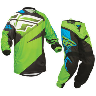 View Item Fly Racing 2014 F-16 Youth Green-Black Motocross Kit