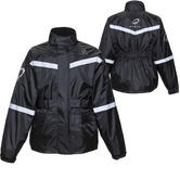 Black Flare Waterproof Motorcycle Over Jacket