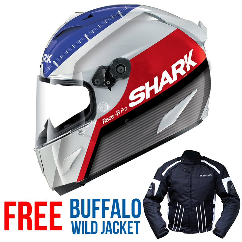 Shark Race R Pro Racing Division Acu Gold Racing Motorcycle Helmet