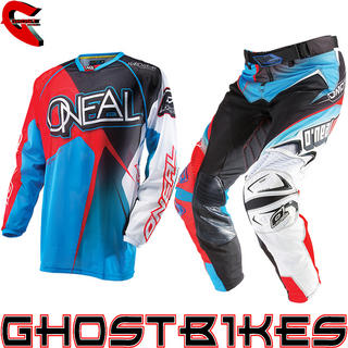 View Item Oneal Hardwear 2014 Vented Black-Red-Blue Motocross Kit