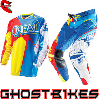 View Item Oneal Hardwear 2014 Racewear Blue-Red-Yellow Motocross Kit