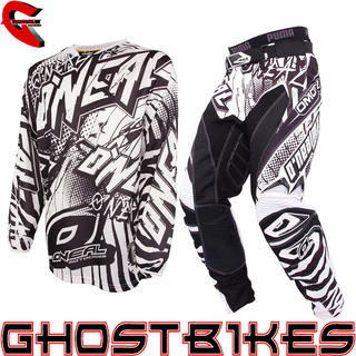 View Item Oneal Hardwear 2014 Automatic Black-White Motocross Kit