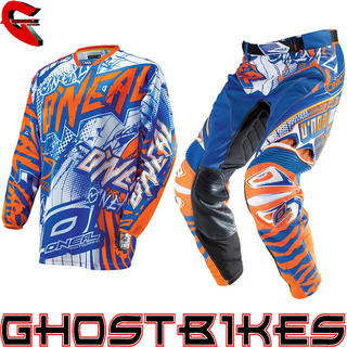 View Item Oneal Hardwear 2014 Automatic Blue-Orange Motocross Kit