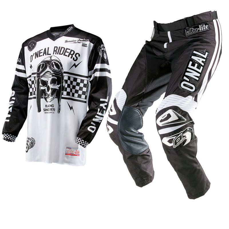 oneal 2014 ultra lite le 70 noir blanc maillot et pantalon vtt kit de motocross ebay. Black Bedroom Furniture Sets. Home Design Ideas