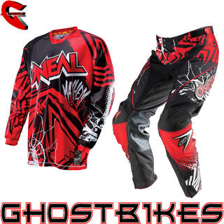 View Item Oneal Mayhem 2014 Vented Roots Black-Red Motocross Kit