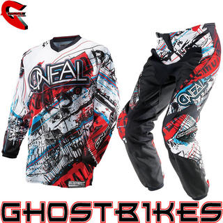 View Item Oneal Element 2014 Acid Blue-Red Motocross Kit