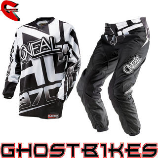 View Item Oneal Element 2014 Racewear Black-White Motocross Kit
