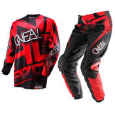 View Item Oneal Element 2014 Racewear Red-Black Motocross Kit