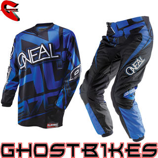 View Item Oneal Element 2014 Racewear Blue-Black Motocross Kit