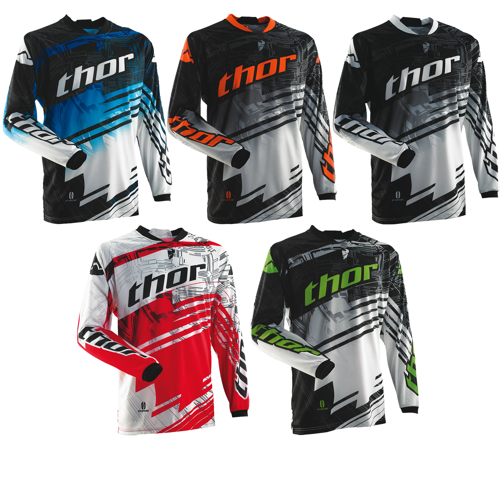 THOR 2014 PHASE S14 SWIPE MX RACE SHIRT MOTO-X ENDURO OFF ROAD MOTOCROSS JERSEY Enlarged Preview