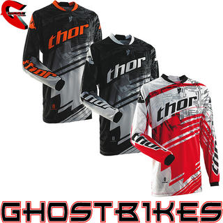 View Item Thor Phase S14 Youth Swipe Motocross Jersey