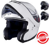Black Optimus Flip Front Motorcycle Helmet (Pinlock Ready)