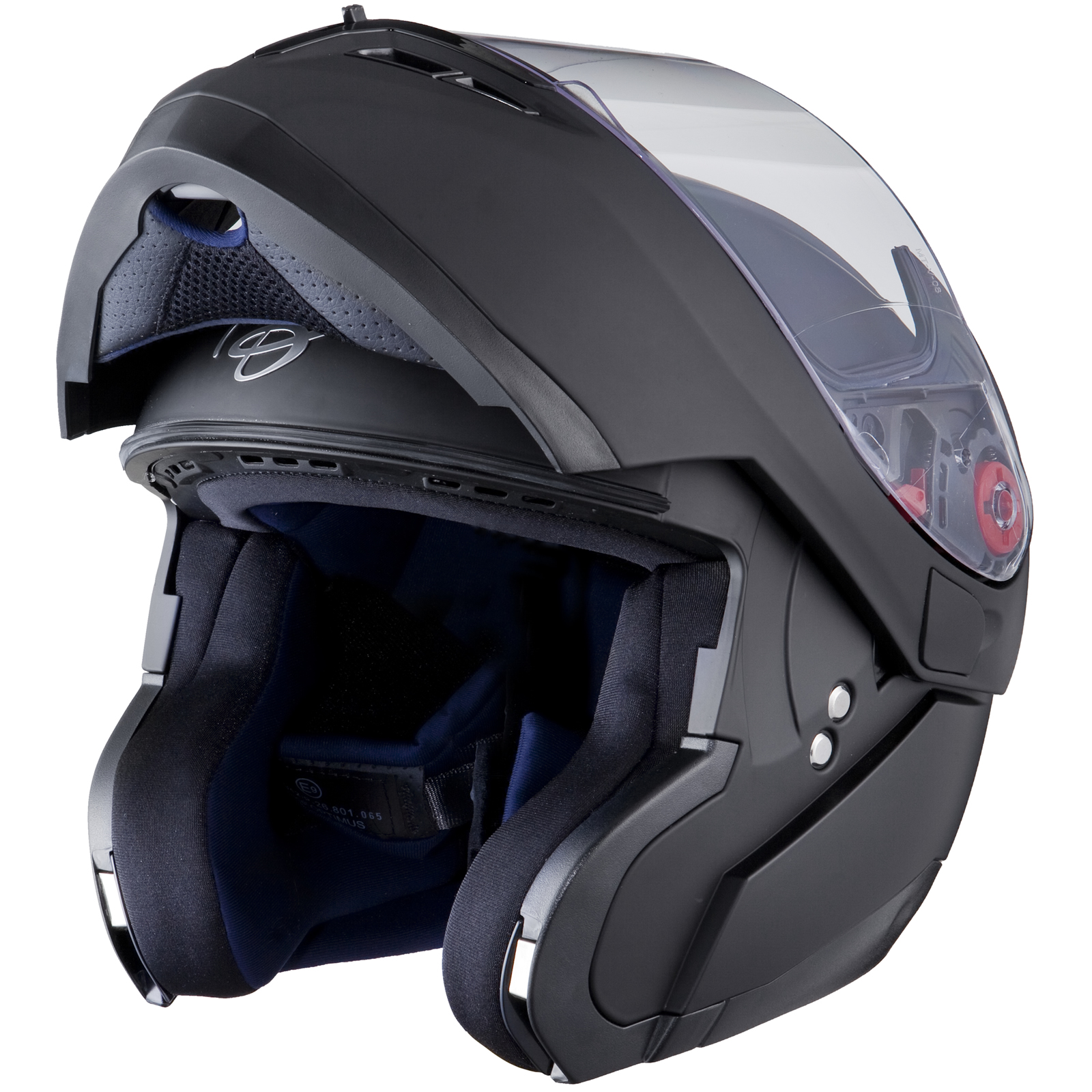 Black Optimus Matt Black Flip Up Front Motorcycle Helmet ...