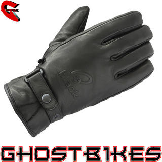 View Item Black Echo Leather Motorcycle Gloves