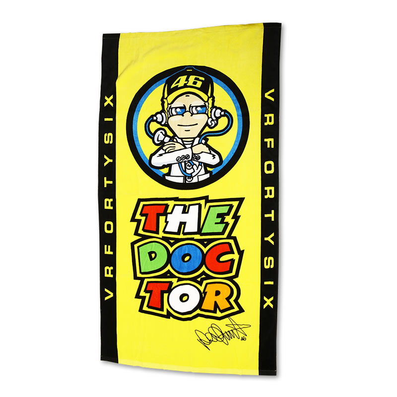 valentino rossi vr46 the doctor beach towel holiday. Black Bedroom Furniture Sets. Home Design Ideas