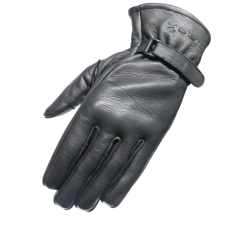 Image of Black Axel Leather Motorcycle Gloves