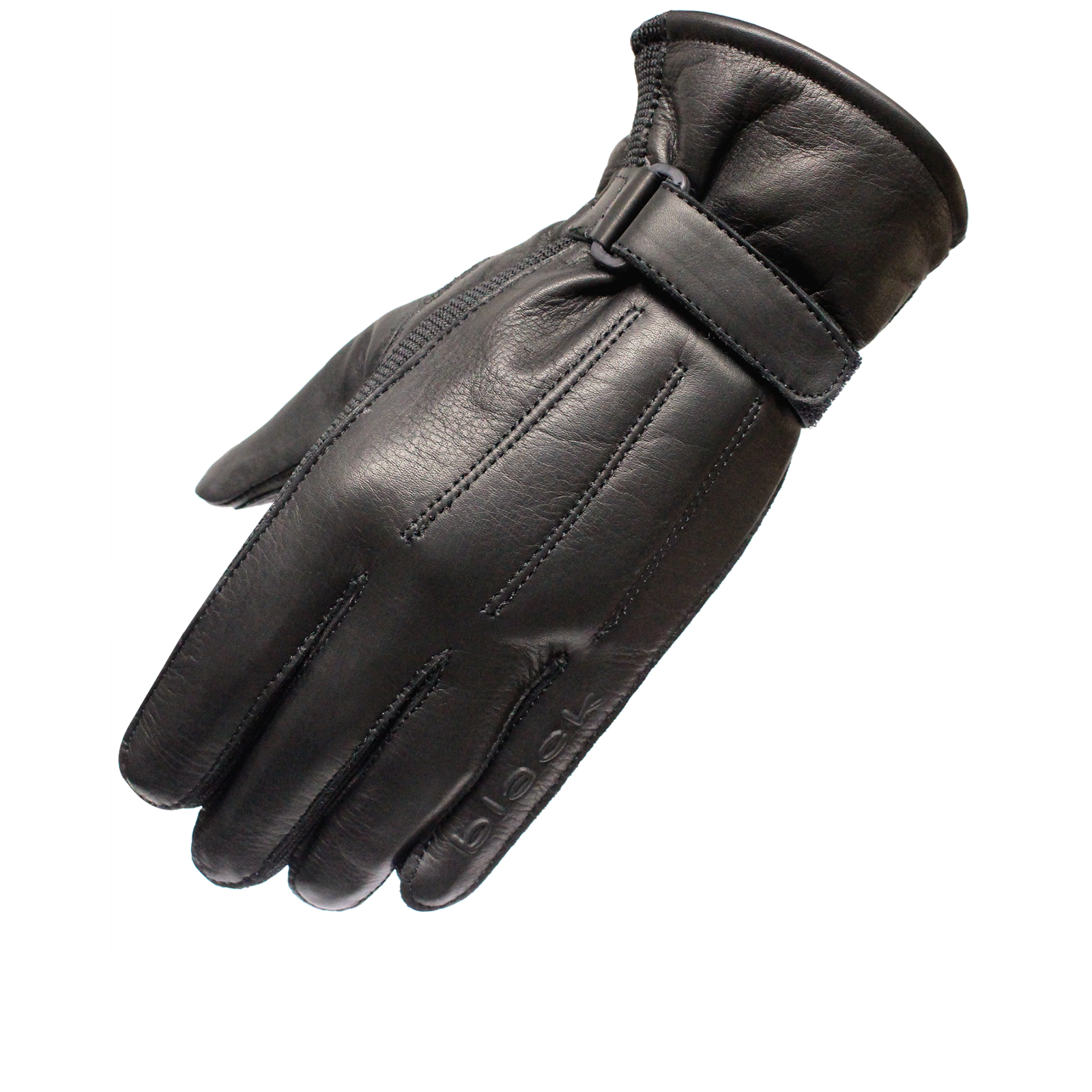 Black Vapour Leather Motorcycle Gloves Gloves