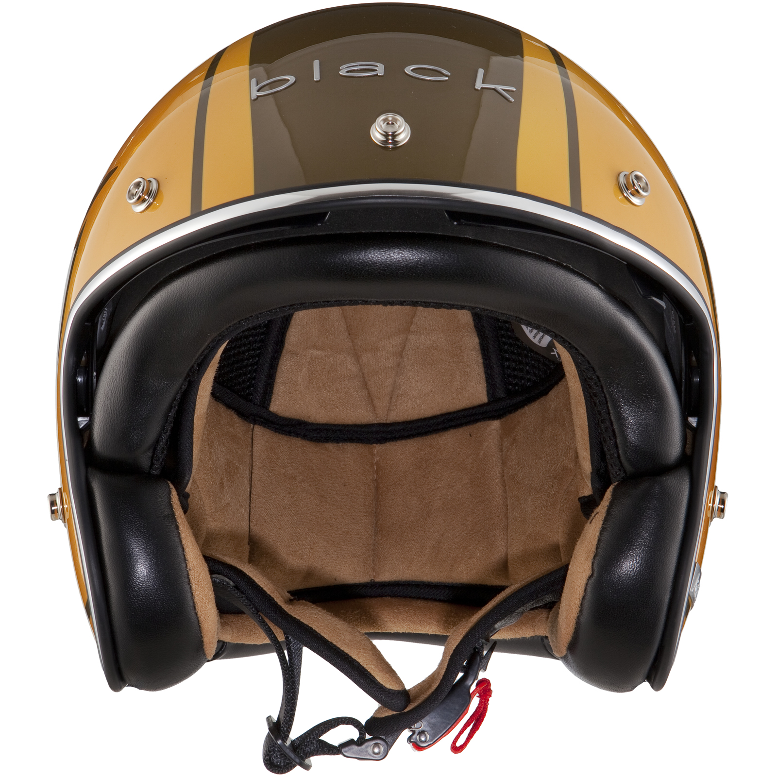 black jam brown gold limited edition helmet motorcycle cafe racer