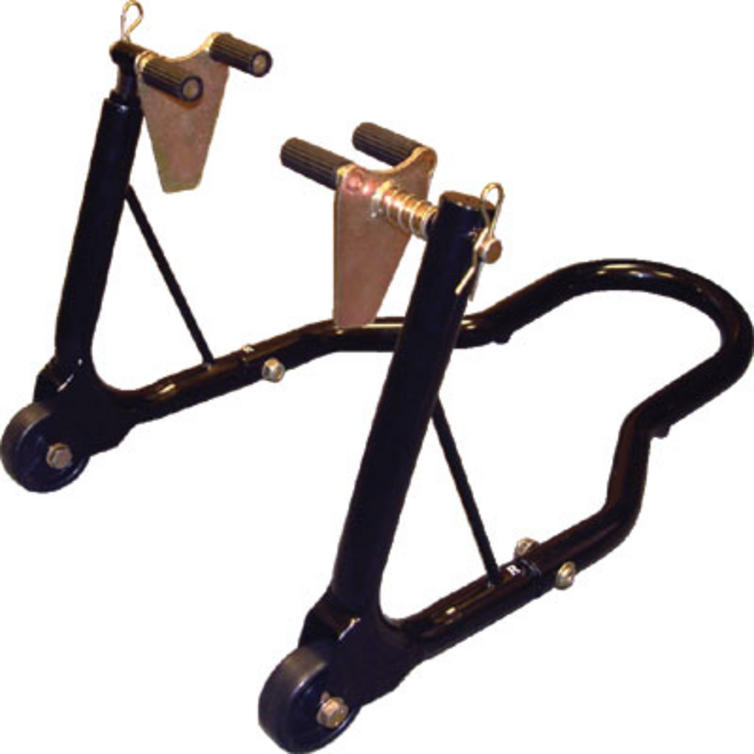 Moto GP Motorcycle Black Front Paddock Stand