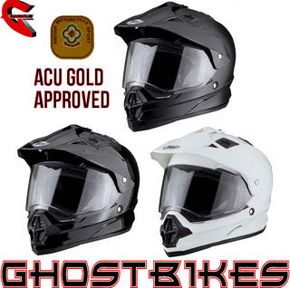 View Item THH TX-26 Plain Dual Sport ACU Motocross Helmet (ACU Gold Approved)