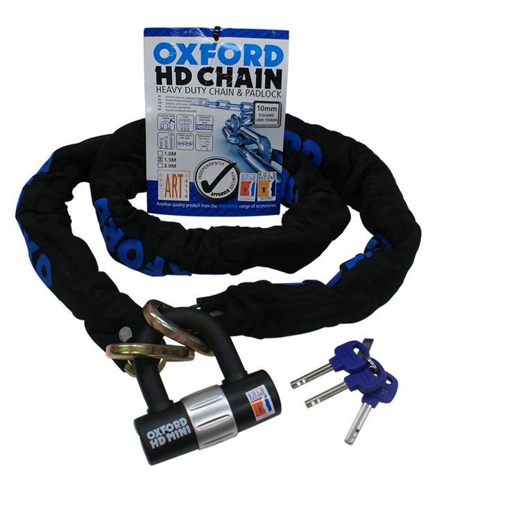 Oxford HD Heavy Duty 1.5m Chain & Lock