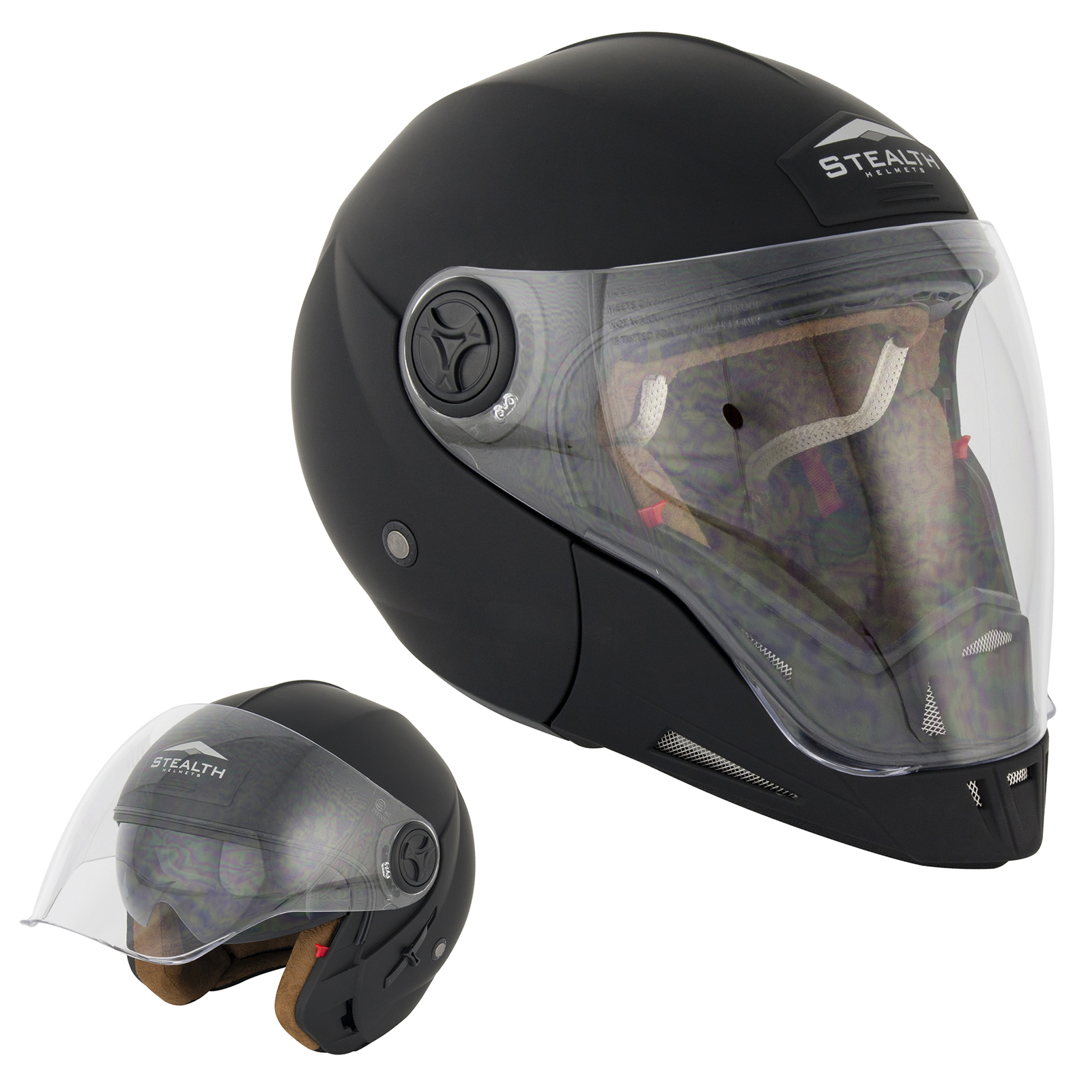 stealth hd190 transformer moto scooter jet int gral motard pare soleil casque ebay. Black Bedroom Furniture Sets. Home Design Ideas