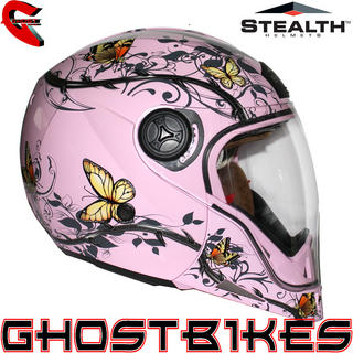 View Item Stealth HD190 Transformer Butterfly Motorcycle Helmet