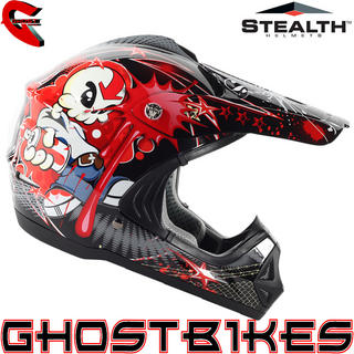 View Item Stealth HD204 Tagg Kids Motocross Helmet