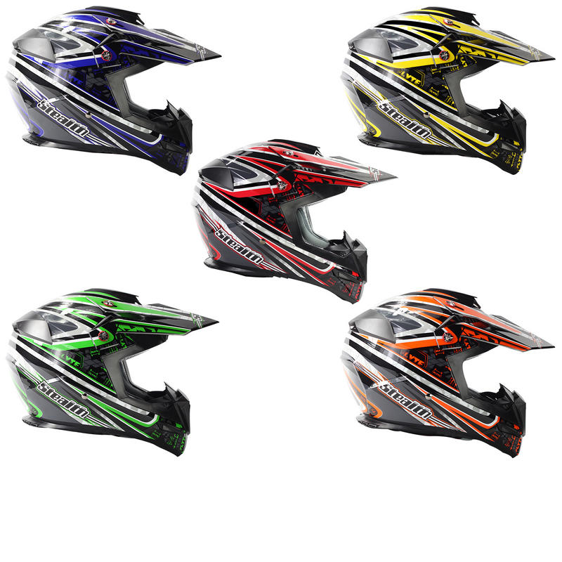 View Item Stealth HD210 Droid Motocross Helmet