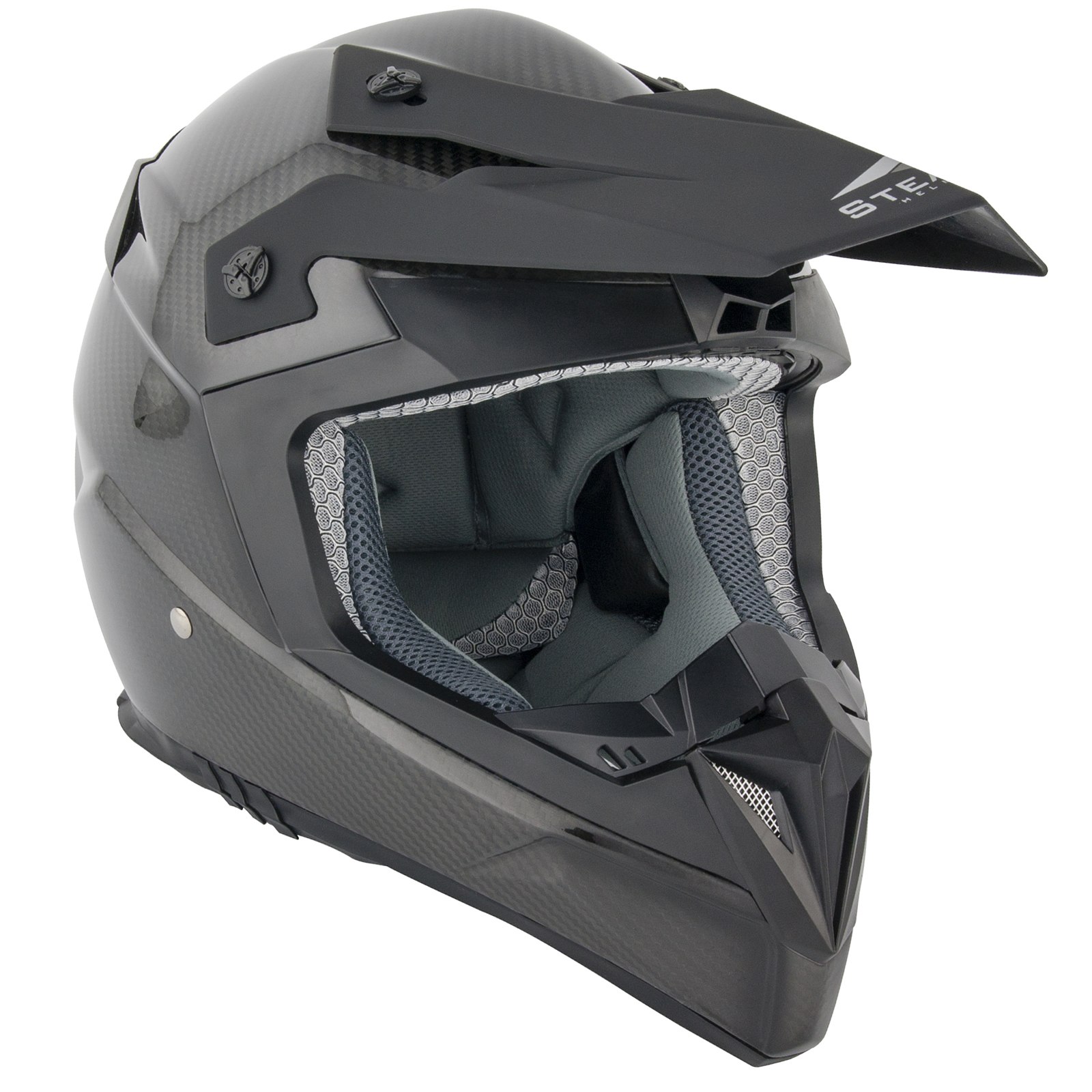 stealth hd210 kohlenfaser leicht mx motocross helm carbon. Black Bedroom Furniture Sets. Home Design Ideas