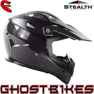 View Item Stealth HD210 Carbon Fibre Motocross Helmet