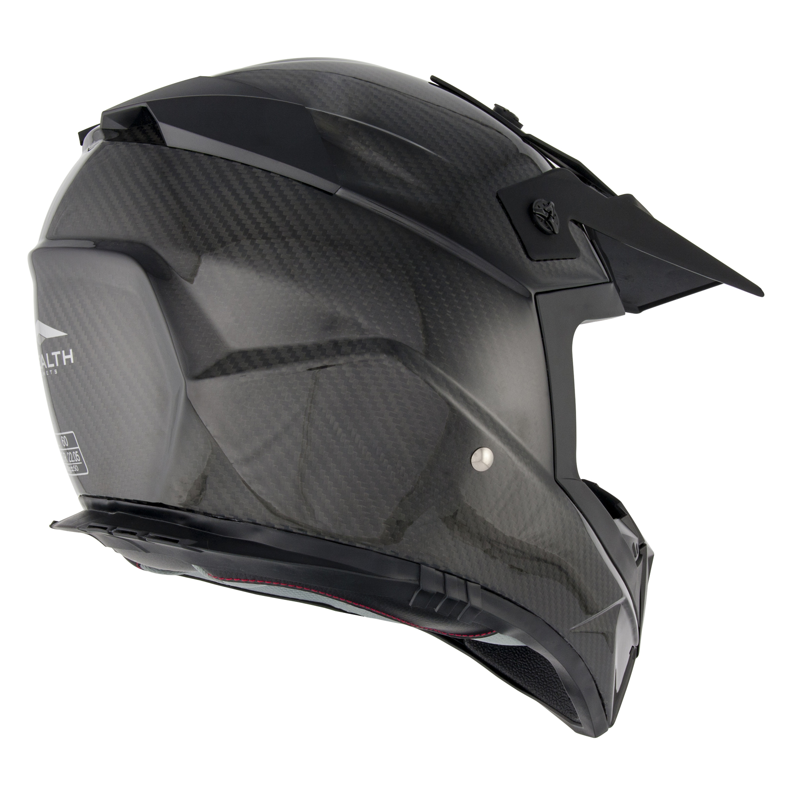 stealth hd210 kohlenfaser leicht mx motocross helm schwarz. Black Bedroom Furniture Sets. Home Design Ideas