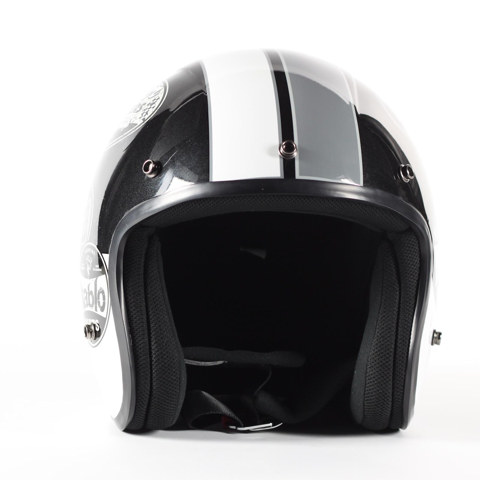 stealth hd320 en fibre de verre open face scooter moto jet bobber casque v lo ebay. Black Bedroom Furniture Sets. Home Design Ideas