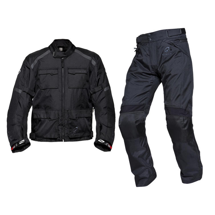 Black Venture Motorcycle Jacket & FREE Trousers
