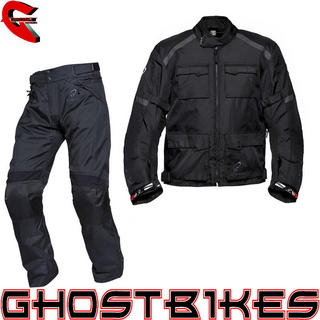 View Item Black Venture Motorcycle Jacket and Trousers Set
