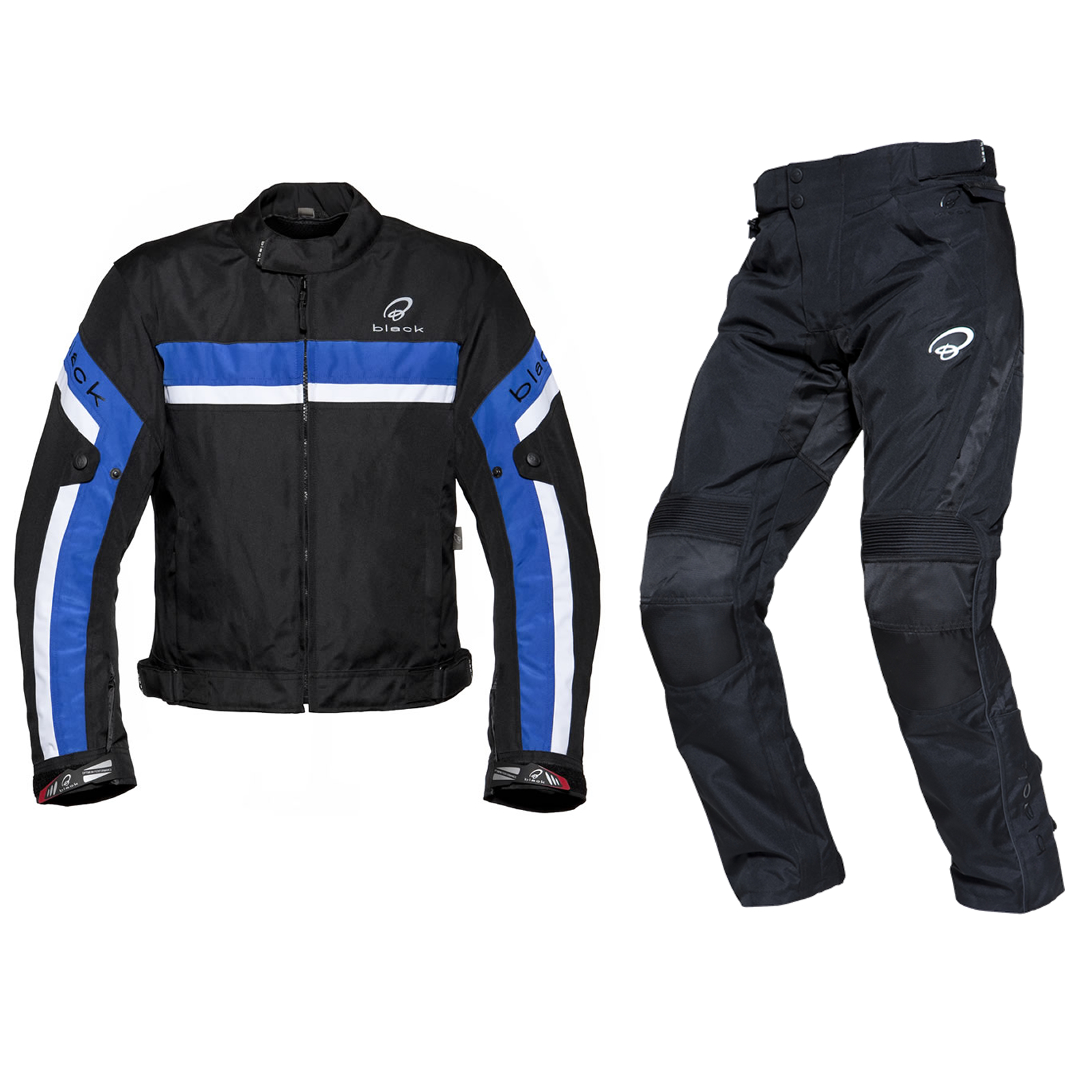 black argon evo blouson bleu et atom pantalon moto scooter motard tanche route ebay. Black Bedroom Furniture Sets. Home Design Ideas